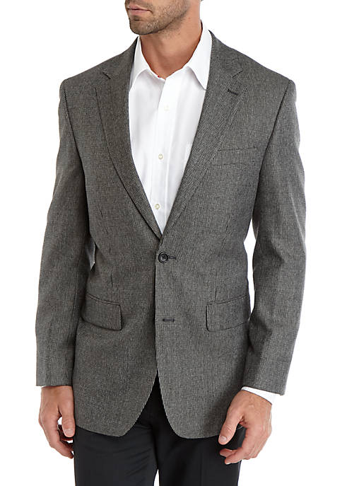 Saddlebred® Black Gray Tic Weave Sport Coat
