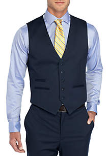 Solid Stretch Suit Vest