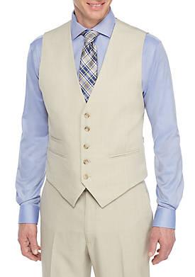 Tonal Plaid Suit Separate Vest