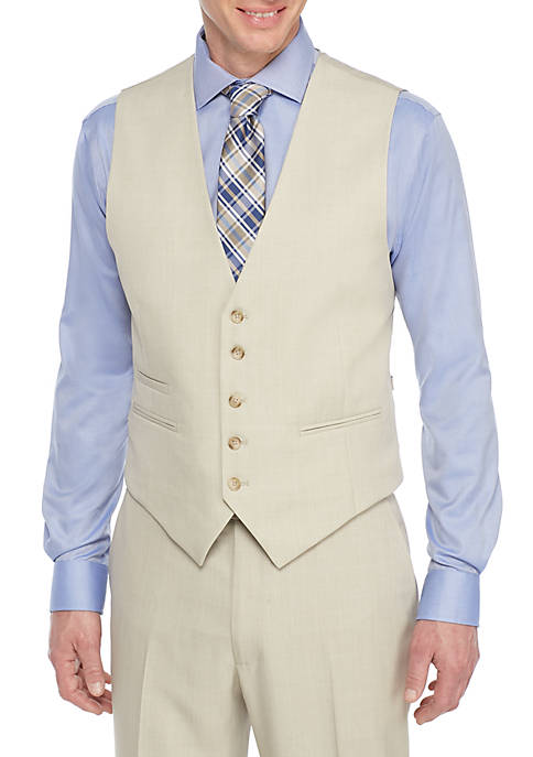 Saddlebred® Tonal Plaid Suit Separate Vest