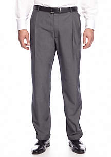 Big & Tall Classic Comfort Fit Black & White Tic Suit Separate Pants
