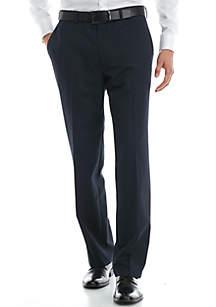 Big & Tall Navy Herringbone Suit Separate Pants