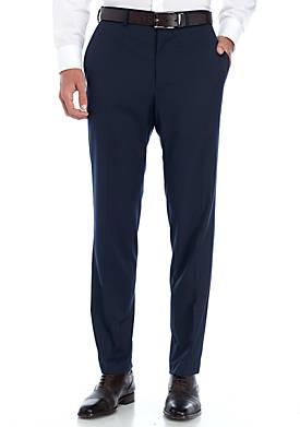 Solid Stretch Suit Pants