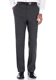 Big & Tall Charcoal Tic Stretch Suit Pants