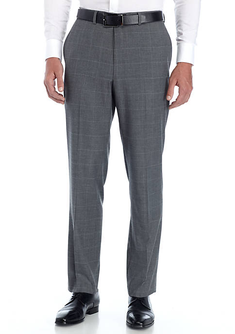 Saddlebred® Windowpane Stretch Suit Pants