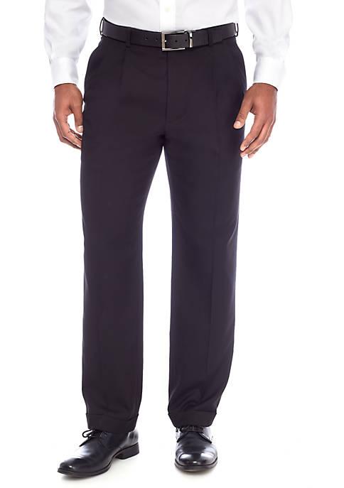 Big & Tall Black Solid Stretch Pants