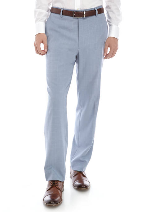 Saddlebred® Light Blue Plaid Suit Separate Pants