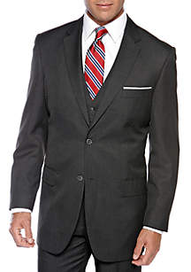 Classic Comfort Fit Charcoal Suit Separate Coat