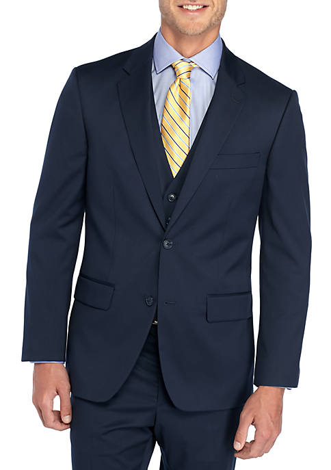 Solid Stretch Suit Coat