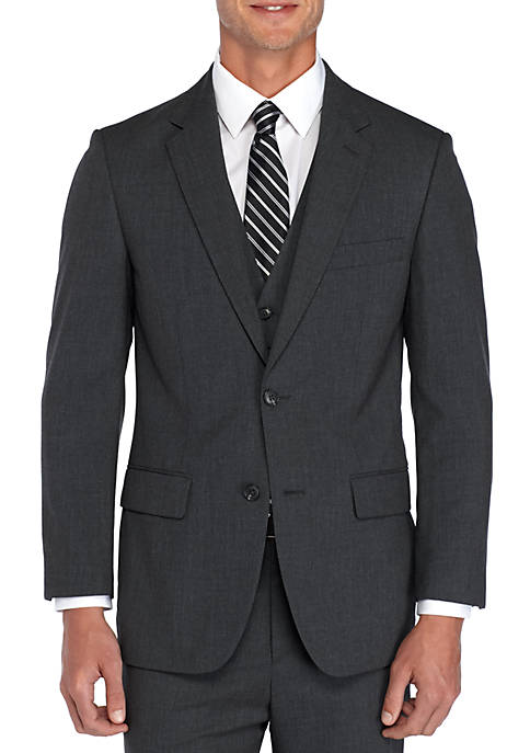 Big & Tall Charcoal Stretch Suit Coat