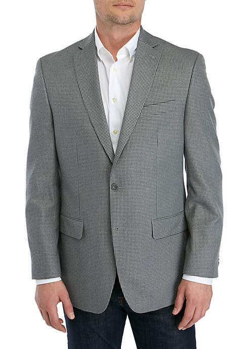 MICHAEL Michael Kors Light Gray Blue Check Sportcoat