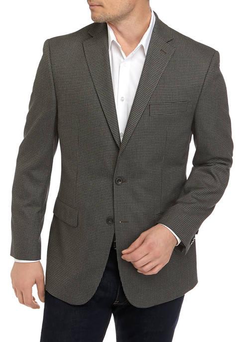 MICHAEL Michael Kors Mens Taupe Check Sport Coat