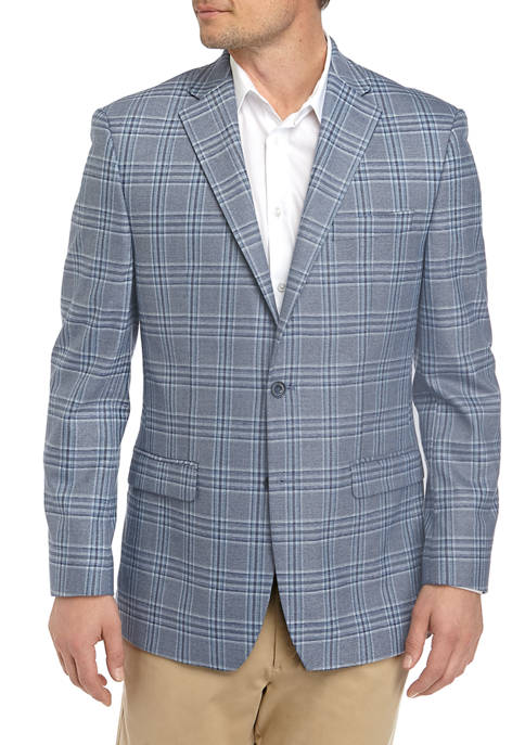 MICHAEL Michael Kors Mens Blue Plaid Sport Coat