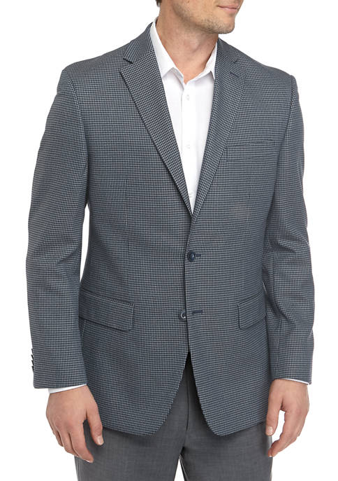 MICHAEL Michael Kors Mens Blue Check Sport Coat