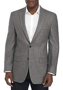 Light Gray Dark Gray Houndstooth Sport Coat
