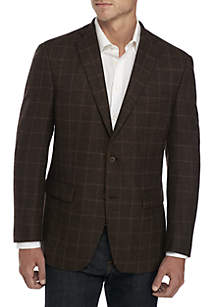 MICHAEL Michael Kors Brown Olive with Burgundy Sport Coat