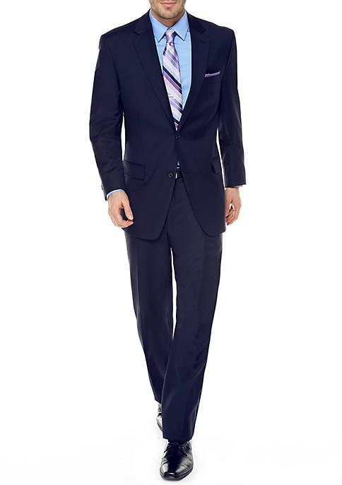 Classic Fit Solid Suit
