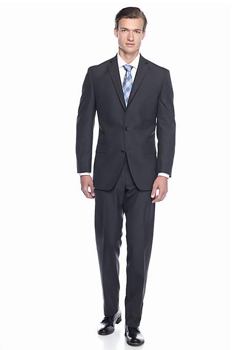 MICHAEL Michael Kors Classic Fit Charcoal Tic Suit