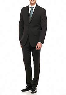 Slim Fit Solid 2-Piece Suit