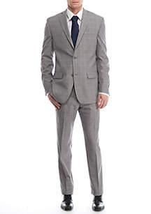 Slim-Fit Windowpane Suit