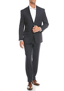 Navy Windowpane 2-piece Suit