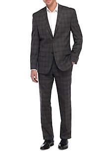 2-Piece Plaid Suit