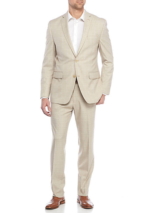 MICHAEL Michael Kors Light Tan Plaid Suit