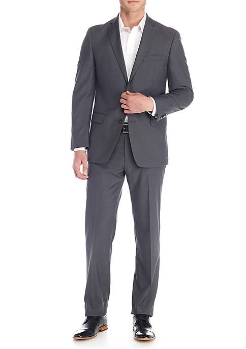 Gray Solid Suit