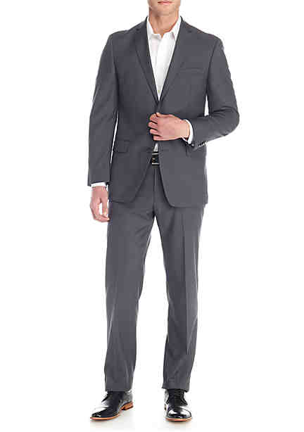 MICHAEL Michael Kors Gray Solid Suit ...