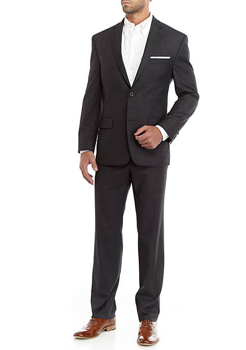Charcoal Gray Windowpane Suit