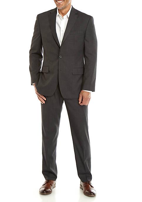 MICHAEL Michael Kors Mens Gray Basketweave Suit