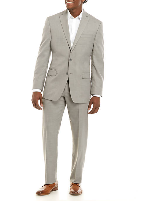 MICHAEL Michael Kors Light Gray Solid Tic Suit
