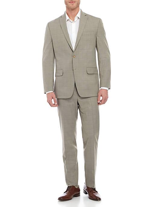 MICHAEL Michael Kors Plaid Tan Suit