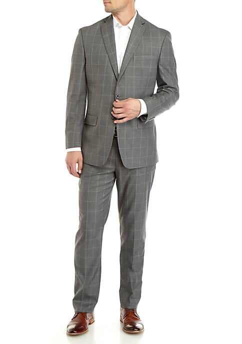 MICHAEL Michael Kors Light Gray Windowpane Suit