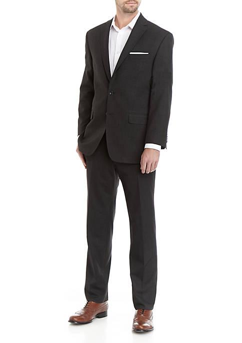 Charcoal Gray Windowpane Suit