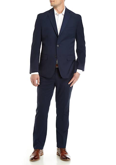 Blue Tonal Pattern Suit