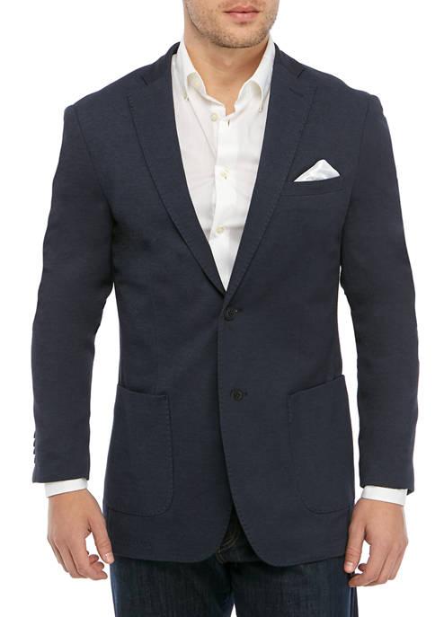 Mens Navy Knit Sport Coat