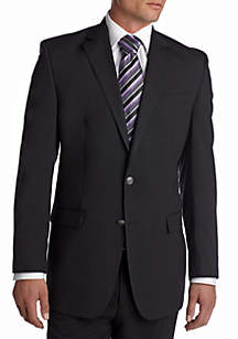 Classic Fit Solid Black Blazer