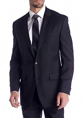 Classic Fit Black Solid Suit Separate Coat