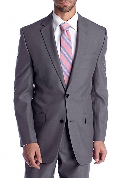 Classic Fit Gray Pin Stripe Suit Separate Coat