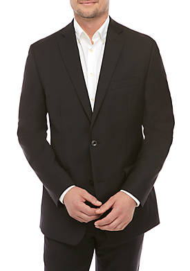 Solid Wool Natural Stretch Classic Fit Suit Separate Coat