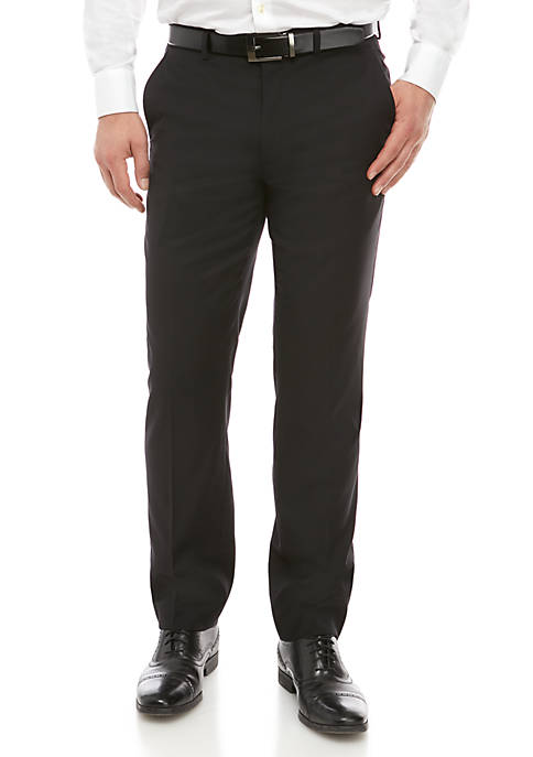 Solid Wool Natural Stretch Classic Fit Pants Separate