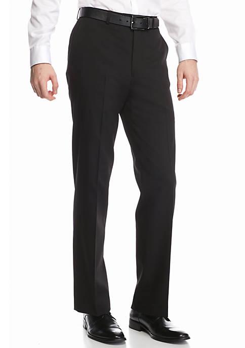 Classic-Fit Flat-Front Dress Pants