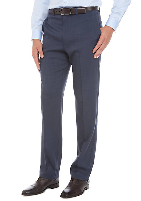 MICHAEL Michael Kors Stretch Flat Front Pants