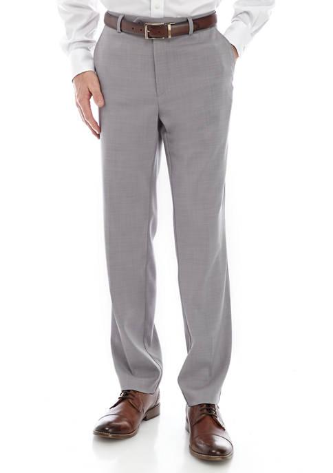 MICHAEL Michael Kors Light Gray Solid Dress Pants