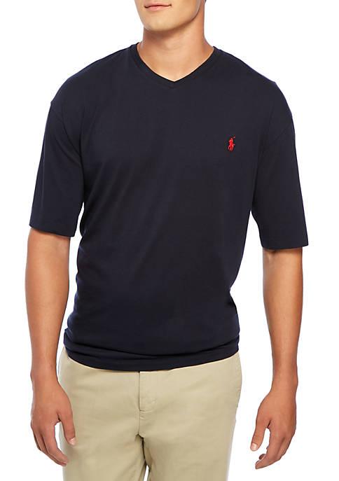 Big & Tall Medium-Fit Short-Sleeved Cotton Jersey V-Neck
