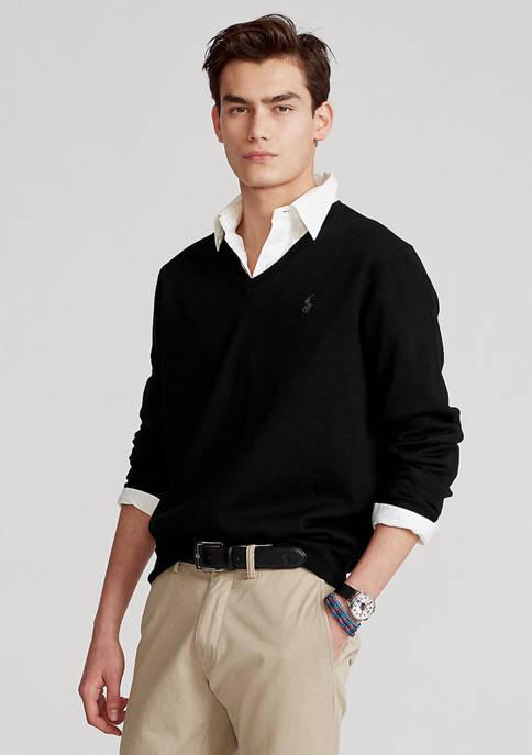 Washable Merino Wool V-Neck Sweater