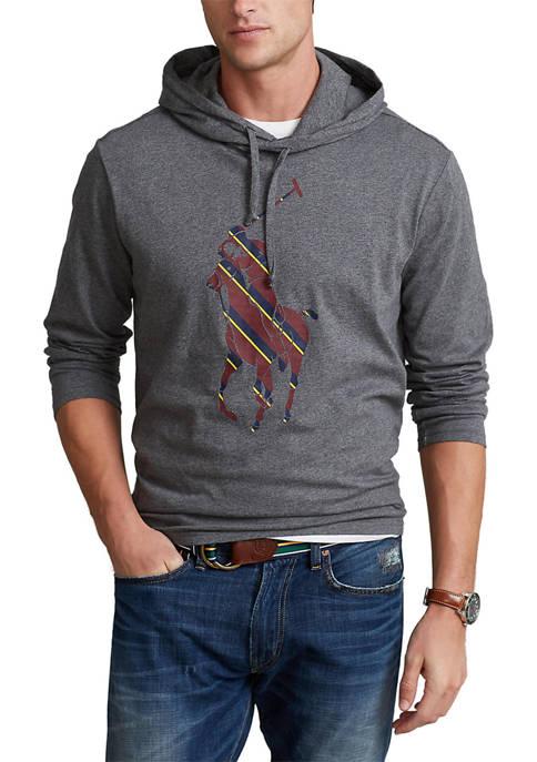 Striped Big Pony Hooded Graphic T-Shirt