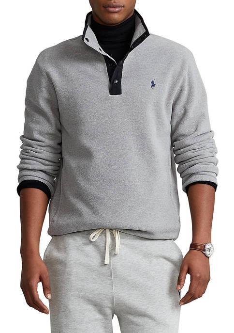 Fleece Mock Neck Pullover