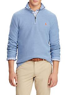 Polo Ralph Lauren Cotton Mesh Half-Zip Sweater